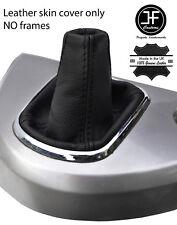 Costura negra de cuero de grano superior Mitsubishi Grandis 2004-2011 se adapta a Polaina gear