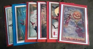 Pack of 6 assorted witch Halloween cards, Samhain, broomsticks, All Hallows Eve