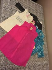 "NWT Girl sz 7/8 shirt clothing lot button down shirts tank ""ROCK"" Anna & Elsa"