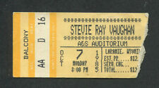Original 1985 Stevie Ray Vaughan Concert Ticket Stub Wyoming Soul To Soul