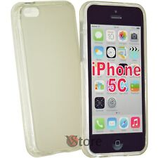 Cover caso para el iPhone 5 C Silicone Gel Transparente Retro Mate