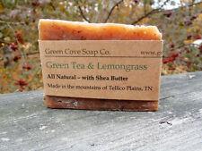 3X Green Tea and Lemongrass Natural Vegan Lye Soap - Handmade Green Cove Soap