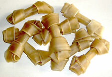 "50 x 4"" - 4.5"" Rawhide Knotted Bone - Dog Chew Raw Hide Knot Natural Treats"