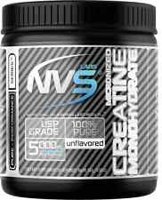 New NVS Labs Creatine Powder Unflavored 300g Micronized Monohydrate 60 Servings