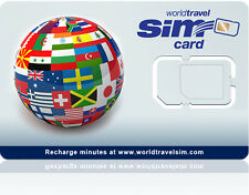 Roaming SIM card - Includes $20.00 Credit - Works in 220 Countries