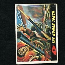 BUBBLES TOPPS 1962 ORIGINAL MARS ATTACKS TRADING CARD THE HUMAN TORCH 9 ARMY