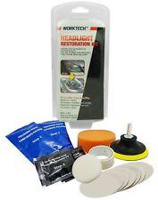 WorkTech Premium Headlight Lens Restoration Kit   Shine Polisher Cleaner Fix DIY