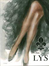 Publicité ancienne les bas Lys1950 issue magazine R. L Dupuy