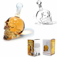 new sale Crystal Head Vodka Skull Face Bone Glass Bottle Decanter Empty Bar Line