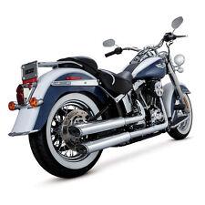 Vance & Hines Twin Slash Slip-Ons Chrom, für Harley-Davidson FLSTN 07-15 TÜV!
