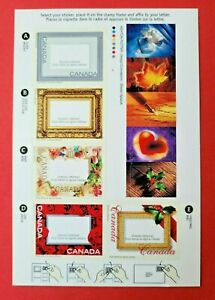 """Canada Stamp #1918 """"Picture Postage"""" Booklet Pane of 5 + 5 Labels MNH 2001"""