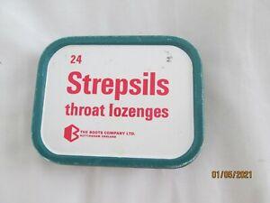 Vintage Tin-Advertising Pharmacy/Chemist-Boots Strepsils Lozenges-Pastilles
