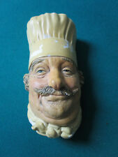 BOSSOMS MAGICAL MODELS ENGLAND THE CHEF face head chalk ware figurine  [*BOSS]