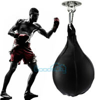 Heavy Duty Leather Speed Ball Training Punching Speed Bag Boxing MMA Pear Punch