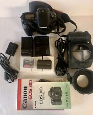 CANON EOS 30D 8.2MP Digital SLR Camera W/EF 28-80mm with extras