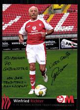 Winfried Richter 1 FC Kaiserslautern Autogrammkarte Original Signiert+A 87854