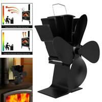 Brûleur à bois suspendu à 4 lames Eco Fireplace Heat Powered Stove Fan DE