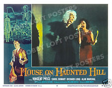 HOUSE ON HAUNTED HILL LOBBY SCENE CARD # 8 POSTER 1959 CAROLYN CRAIG