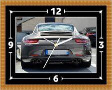 Porsche 911 Trasero Reloj Regalo Presente Navidad Cumpleaños (personalizable)