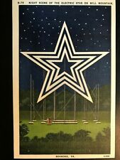 Vintage Postcard>1930-1945>Electric Star>Mill Mountain>Roanoke>Virginia