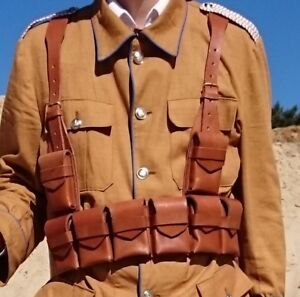 leather belt / ammo pouch assembly Kaiserl. Schutztruppe German Colonial troops