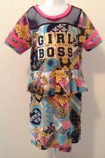 Dereon Girls by Beyonce Sz Medium 10/12 Girl Boss Short Sleeve Dress I1