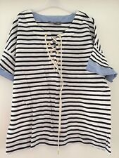 Gorgeous LAURA ASHLEY STRIPED TOP SIZE 12