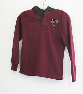 Polo Ralph Lauren Boys Fleece Rugby Hoodie Classic Wine Sz S (8) - NWT