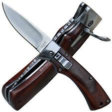 Herbertz Einhandmesser Springmesser mit Sicherung Griff mit Cocobolo Holzschalen