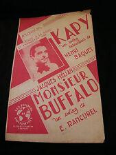 Partition Kapy Baquet Hélian Monsieur Buffalo Rancurel Music Sheet