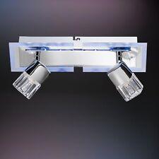 WOFI lámpara de techo BISSAU 3 llamas Cromado Foco LED Halógeno Control remoto