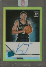 2019-20 Donruss Optic Keldon Johnson Rc Auto Gold Prizm 8/10 #186 Spurs Rookie