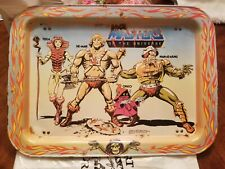 1982 Mattel Masters Of The Universe TV Tray w/ He-man,  Orko, Teela, Man-at-Arms