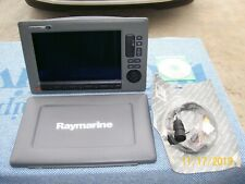 Raymarine C-120 Wide MFD with suncover, manual, power/data cable. US Charts