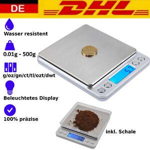 Digitale Edelstahl Schmuck Waage Feinwaage Präzisionswaage Goldwaage 500g/0,01g