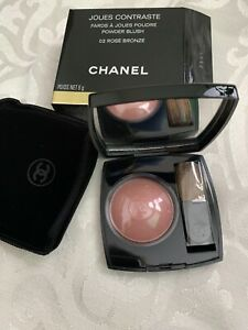 CHANEL Joues Contraste Powder Blush 02 Rose Bronze  Rare A8