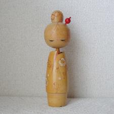Beautiful woman Hajime Miyashita Kokeshi Japanese wooden doll 8.6inch