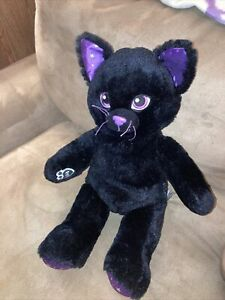 Build A Bear Starry Sky Black Cat Magical Purple Eyes Stars Retired Not Perfect