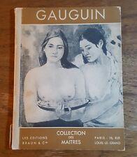 Gauguin, Collection des Maitres, Les Editions Braun & Co. PB