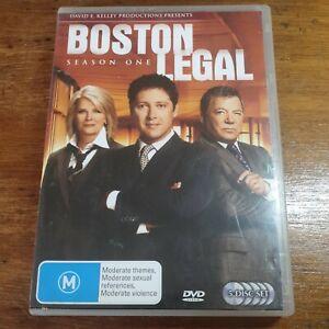 Boston Legal Season 1 One R4 DVD Like New! FREE POST