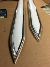 "Vintage type 1 1/4 "" (1.25"") White with Chrome body side molding  pointed ends"