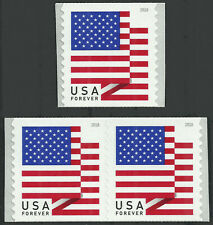 Scott 5261, Flag Issue from 2018 - Pair and Single - MNH