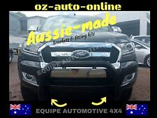 NUDGE BAR FORD RANGER PX ll 2017 WILD TRACK TECH PACK * BLACK STEEL *LIGHT TAGS