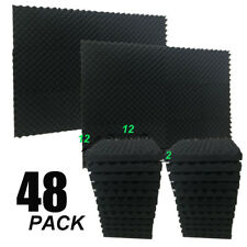 """2"""" X 12"""" X 12"""" Acoustic Studio Soundproofing Egg Crate Foam Wall Tiles 48 Pack"""
