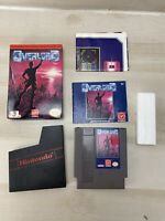 OVERLORD virgin games NES Nintendo complete w/ Manual & map CIB NICE BOX! Tested