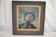 Vintage Emmett Kelly Circus Clown by Margot Yoder Clark VERES Oil Painting