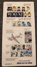 Aerocaribe DC-9 Safety Card