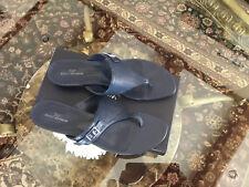 Brooks Brothers Dark Blue Leather Sandals - US Size: 9