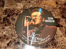 "Elvis Costello Rare Hand Signed Limited Edition 12"" Vinyl Picture Disc Record LP"