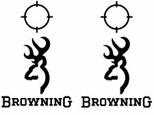 Browning Cornhole Set of 6 Vinyl Decal Stickers Bean Bag Toss deer hunting